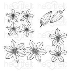 Heartfelt Creations Clematis Cling Stamp Set