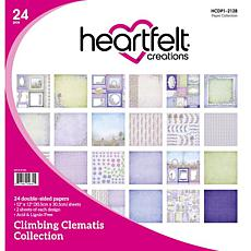 Heartfelt Creations Climbing Clematis Paper Collection