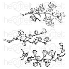 Heartfelt Creations Sweet Magnolia Buds Cling Stamp Set