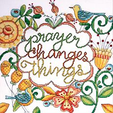 "Heartfelt Prayer 10""x10"" Counted Cross Stitch Kit"