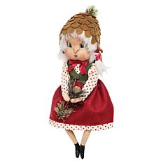 Heather Pinecone Girl Figurine