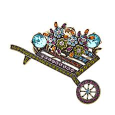 "Heidi Daus ""A Garden on Wheels"" Crystal Pin"