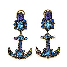"Heidi Daus ""Anchor's Away"" Crystal Drop Earrings"