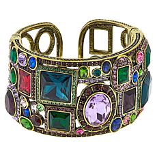 "Heidi Daus ""Artful Abstract"" Crystal Cuff Bracelet"