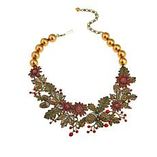 "Heidi Daus ""Autumn Splendor"" Crystal Bib Drop Necklace"