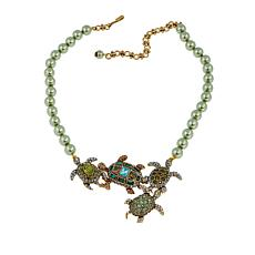 "Heidi Daus ""Bale of Turtles"" Beaded Crystal Drop Necklace"