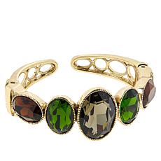 "Heidi Daus ""Beautiful Bedrock"" Hinged Cuff"