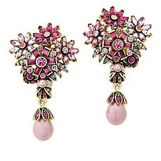 "Heidi Daus ""Beautiful Bouquet"" Crystal-Accented Drop Earrings"