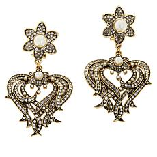 "Heidi Daus ""Bloom in Heart"" Crystal Drop Earrings"