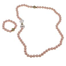 Heidi Daus Bow Tie Convertible Necklace and Bracelet Set