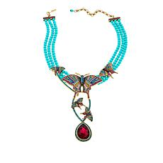 "Heidi Daus ""Butterfly Dreams"" 3-Strand Beaded Crystal Drop Necklace"