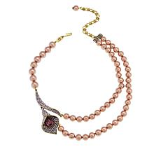 "Heidi Daus ""Calla Lily"" Beaded Crystal-Accented 16-1/2"" Necklace"