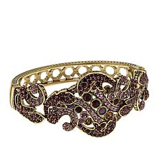 "Heidi Daus ""Captivating Carrie"" Crystal Hinged Bangle Bracelet"