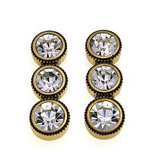 "Heidi Daus ""Captivating Coquette"" Crystal Drop Earrings"