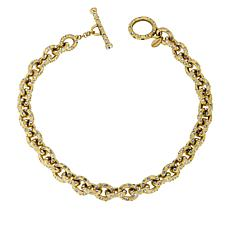 """Heidi Daus """"Chain Reaction"""" 18-1/4"""" Crystal Chain-Link Necklace"""