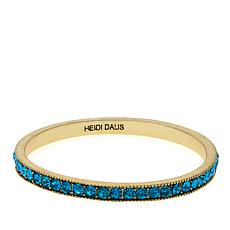 "Heidi Daus ""Chic Simplicity"" Crystal Bangle Bracelet"