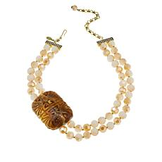 "Heidi Daus ""Chinoise Bottle"" 2-Strand Station Necklace"