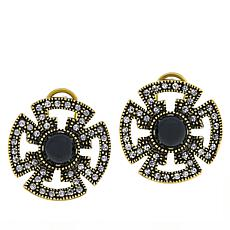 "Heidi Daus ""Circle Back"" Crystal-Accented Earrings"