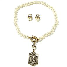 """Heidi Daus """"Classic Edition"""" Necklace and Earrings Set"""