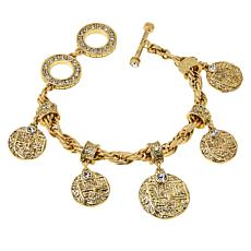 Heidi Daus Coin-Inspired Rope Chain Dangle Bracelet