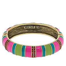 "Heidi Daus ""Color Happy"" Enamel and Crystal Bangle Bracelet"