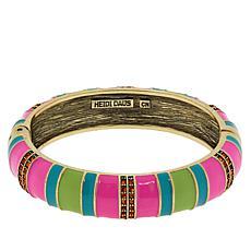 "Heidi Daus ""Color Happy"" Enamel and Crystal Bangle Bracelet"