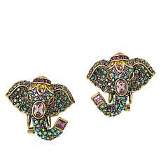 "Heidi Daus ""Critter Parade"" Multi-Color Crystal Earrings"