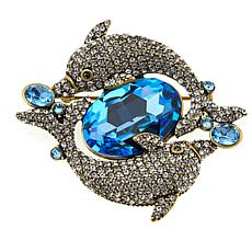 "Heidi Daus ""Cycle of the Sea"" Crystal Dolphin Pin"