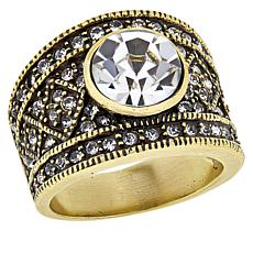 """Heidi Daus """"Daily Double"""" Crystal Band Ring"""