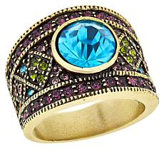 "Heidi Daus ""Daily Double"" Crystal Band Ring"
