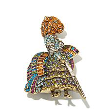 "Heidi Daus ""Dame Tigress"" Crystal Pin"