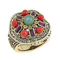 "Heidi Daus ""Deco-Page"" Bead and Crystal Ring"