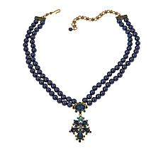 "Heidi Daus ""Delicate Delight"" Beaded Crystal Drop Necklace"