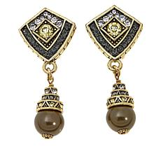 "Heidi Daus ""Divinely Deco"" Crystal Drop Earrings"