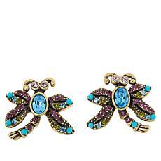 """Heidi Daus """"Dragonfly Artistry"""" Crystal Earrings"""