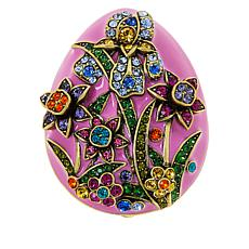 Heidi Daus Easter Egg Garden Crystal and Enamel Pin
