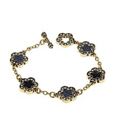 "Heidi Daus ""Easy Does It"" Floral Link Bracelet"