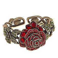 "Heidi Daus ""Enchanted Beauty"" Crystal Cuff Bracelet"