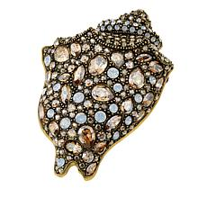 "Heidi Daus ""Encrusted Conch"" Crystal Pin"