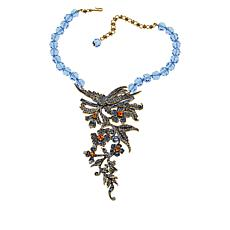 "Heidi Daus ""English Enchantment"" Beaded Crystal Drop Necklace"