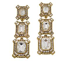 "Heidi Daus ""Estate Splendor"" Crystal Drop Earrings"