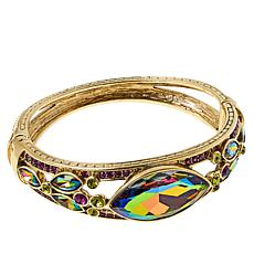 "Heidi Daus ""Falling Waters"" Crystal Hinged Bangle Bracelet"