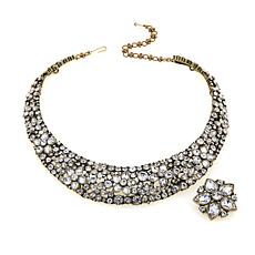 "Heidi Daus ""Fantasy in Florals"" Necklace with Enhancer Pendant/Pin"