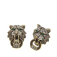 "Heidi Daus ""Feline Intuition"" Crystal Earrings"