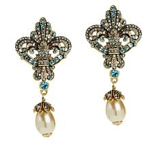 "Heidi Daus ""Fierce and Fabulous"" Crystal Drop Earrings"