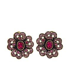 "Heidi Daus ""Garden Glamour"" Crystal Earrings"
