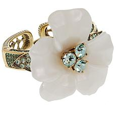 "Heidi Daus ""Glamorous Gardenia"" Resin and Crystal Bracelet"