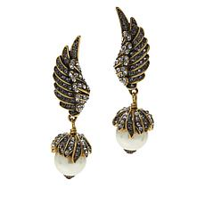 "Heidi Daus ""Glittering Griffin"" Crystal Drop Earrings"