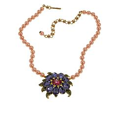"Heidi Daus ""Glorious Garden"" Beaded Crystal Drop Necklace"