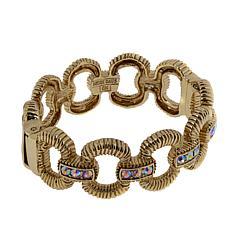 """Heidi Daus """"Gorgeous Rocks"""" Hinged Bangle Bracelet"""